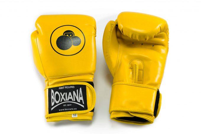 guantes boxeo amarillo