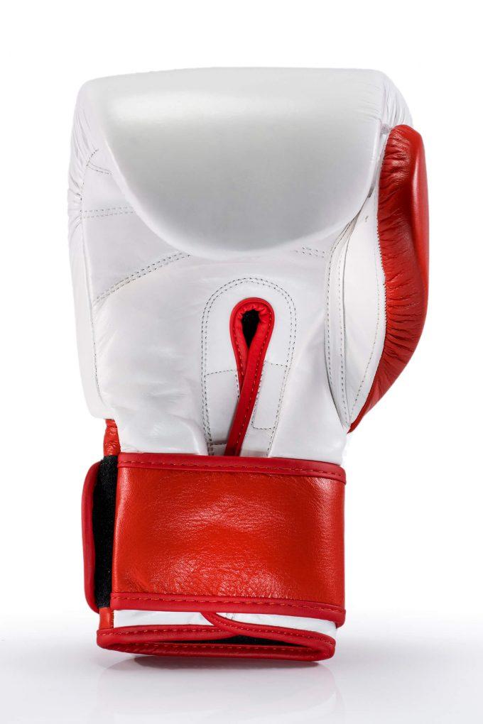 guante boxeo rojo blanco